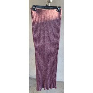 Ambiance ribbed two split maxi skirt